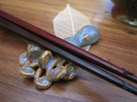 "Laura also made the ""octapus"" chopstick rests."