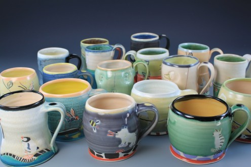Cups waiting to be shipped to show