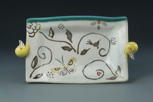Butter tray_porcelain_pottery -duck