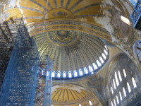 Hagia Sophia is undergoing extensive renovation and restoration.