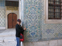 "The sleeping quarters, hallways and courtyards are tiled with the famous 16th century Iznik tiles. The cypress trees represent the ""tree of life"". A very appropriate location for this symbol."