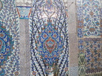 The tiles get their name (Iznik) from the region in Turkey where they were made. It was recognized as the center for ceramic production because of local deposits of clay.