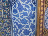 These tiles show the influence of Chinese ware on the Iznik craftsmen. The tiles are located in the circumcision room.