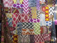A tremendous selection of beautiful fabric.