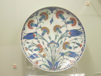 16th century Iznik plate from the National Ceramics Museum (Turkish Tile and Ceramics) located on the grounds of the National Archaeological Museum.